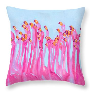 Throw Pillow featuring the digital art Underdressed by Jane Schnetlage