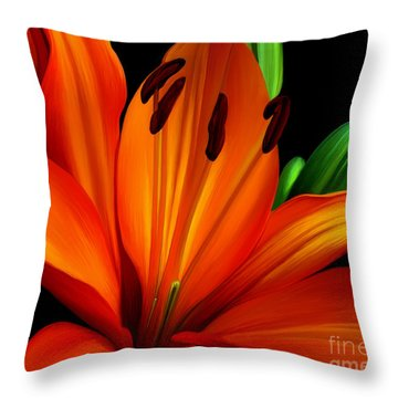 Underglo  Throw Pillow