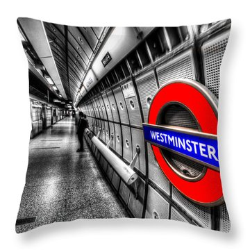 Underground London Throw Pillow