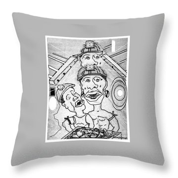 Underground Mine Workers In South Africa Throw Pillow