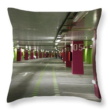 Underground Parking Lot Throw Pillow by Gaspar Avila