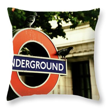 Throw Pillow featuring the photograph Underground by Rasma Bertz