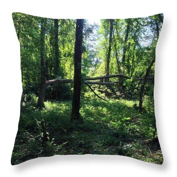 #undergrowth Throw Pillow