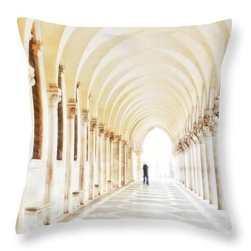 Underneath The Arches Throw Pillow by Marion Galt