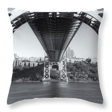Underneath The George Washington Bridge IIi Throw Pillow