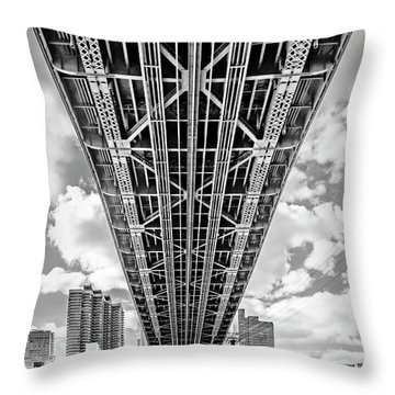 Underneath The Queensboro Bridge Throw Pillow