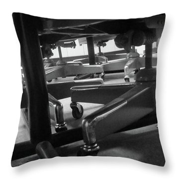 Underneath The Table Throw Pillow