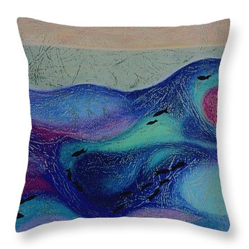 Undersea Movement Throw Pillow
