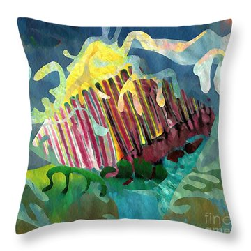 Undersea Still Life Throw Pillow by Sarah Loft