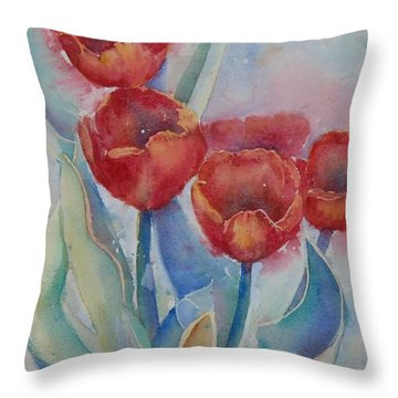 Undersea Tulips Throw Pillow