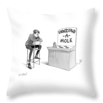 Understand-a-mole Throw Pillow