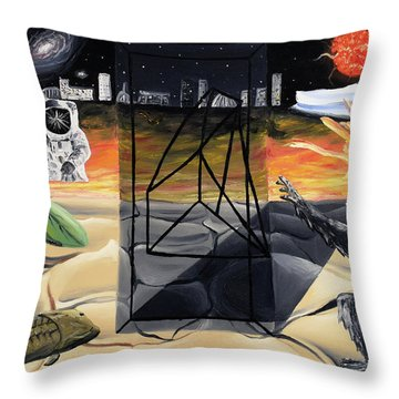 Throw Pillow featuring the painting Understanding Time by Ryan Demaree