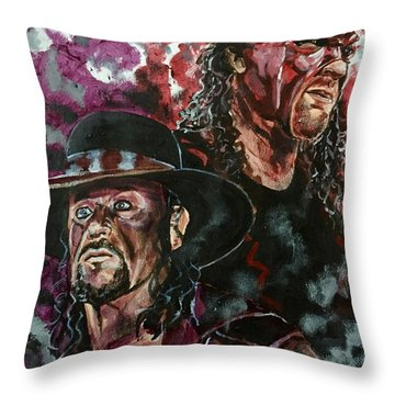 Undertaker And Kane Throw Pillow