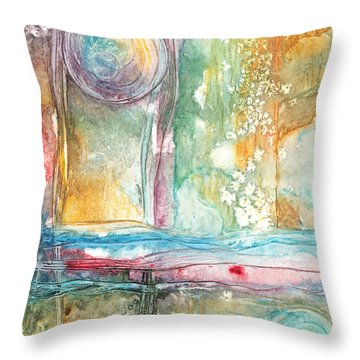 Undertow Throw Pillow by Casey Rasmussen White
