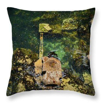 Underwater Art At Cannery Row Throw Pillow
