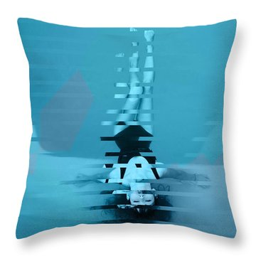 Underwater Bliss Throw Pillow by Feel The Glitch