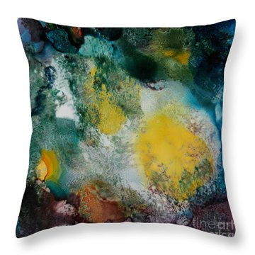 Underwater Cave Throw Pillow