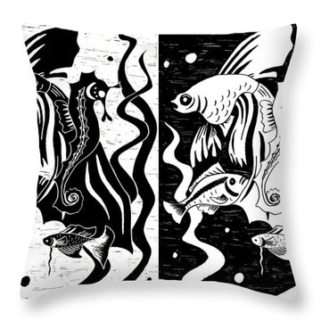 Underwater Fish Throw Pillow by Svetlana Sewell