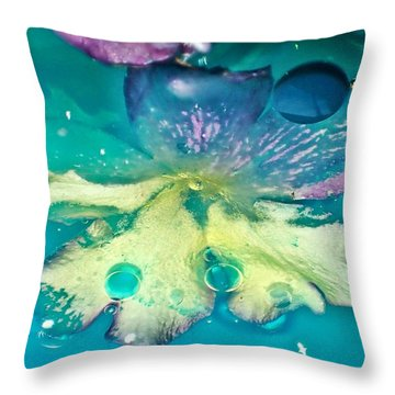 Underwater Flower Abstract 10 Throw Pillow by Lorella Schoales