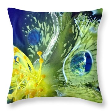 Underwater Flower Abstraction 1 Throw Pillow by Lorella Schoales
