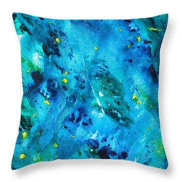 Underwater Forest Throw Pillow