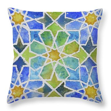 Underwater Throw Pillow by Holly York