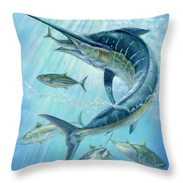 Underwater Hunting Throw Pillow