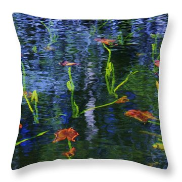 Underwater Lilies Throw Pillow