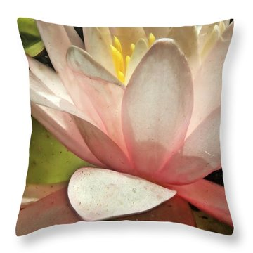 Underwater Lily 2 Throw Pillow