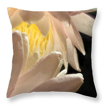 Underwater Lily 4 Throw Pillow