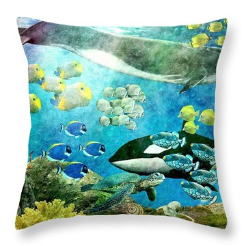 Underwater Magic Throw Pillow