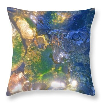 Underwater Magic Throw Pillow by Cindy Lee Longhini