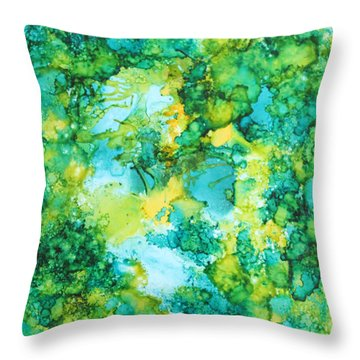 Underwater Map Throw Pillow