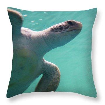 Underwater Race Throw Pillow