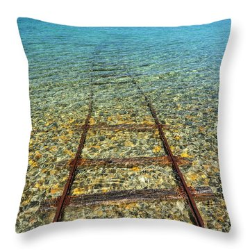 Underwater Railroad Throw Pillow