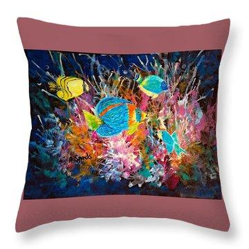Underwater Sea Life Throw Pillow