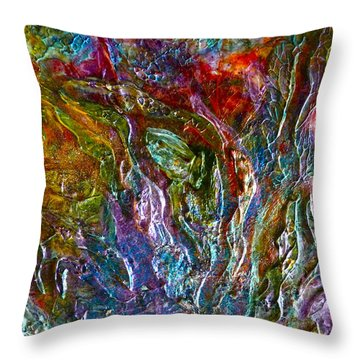 Throw Pillow featuring the painting Underwater Seascape by Claire Bull