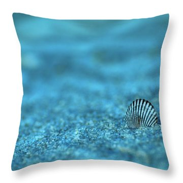 Underwater Seashell - Jersey Shore Throw Pillow