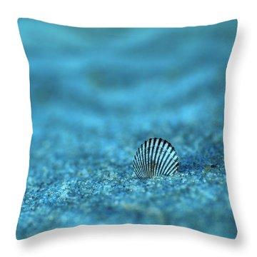 Underwater Seashell - Jersey Shore Throw Pillow