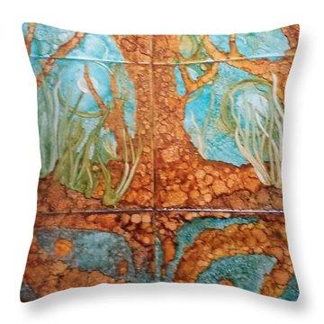 Underwater Trees Throw Pillow