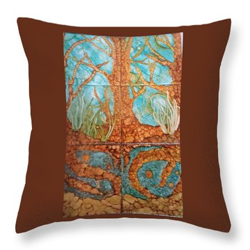 Underwater Trees Throw Pillow