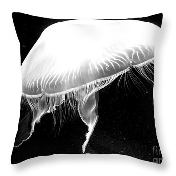Underwater Ufo Throw Pillow by Christy Ricafrente