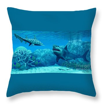 Underwater World Throw Pillow by Corey Ford