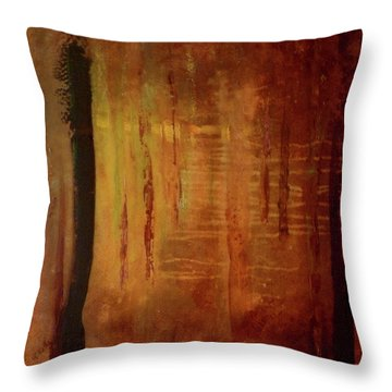 Throw Pillow featuring the painting Underwood by Valerie Anne Kelly