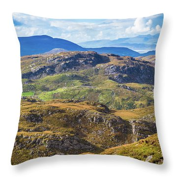 Throw Pillow featuring the photograph Undulating Landscape In Kerry In Ireland by Semmick Photo