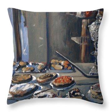 Une Coupe A Gingembre En Cristal De La Patisserie Royale A Maastricht Throw Pillow by Nop Briex