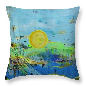 Une Journee Magnifique Throw Pillow