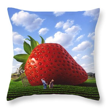 Unexpected Growth Throw Pillow by Jerry LoFaro