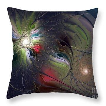 Throw Pillow featuring the digital art Unfading by Karin Kuhlmann