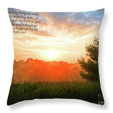 Throw Pillow featuring the photograph Unfailing Love by Kerri Farley